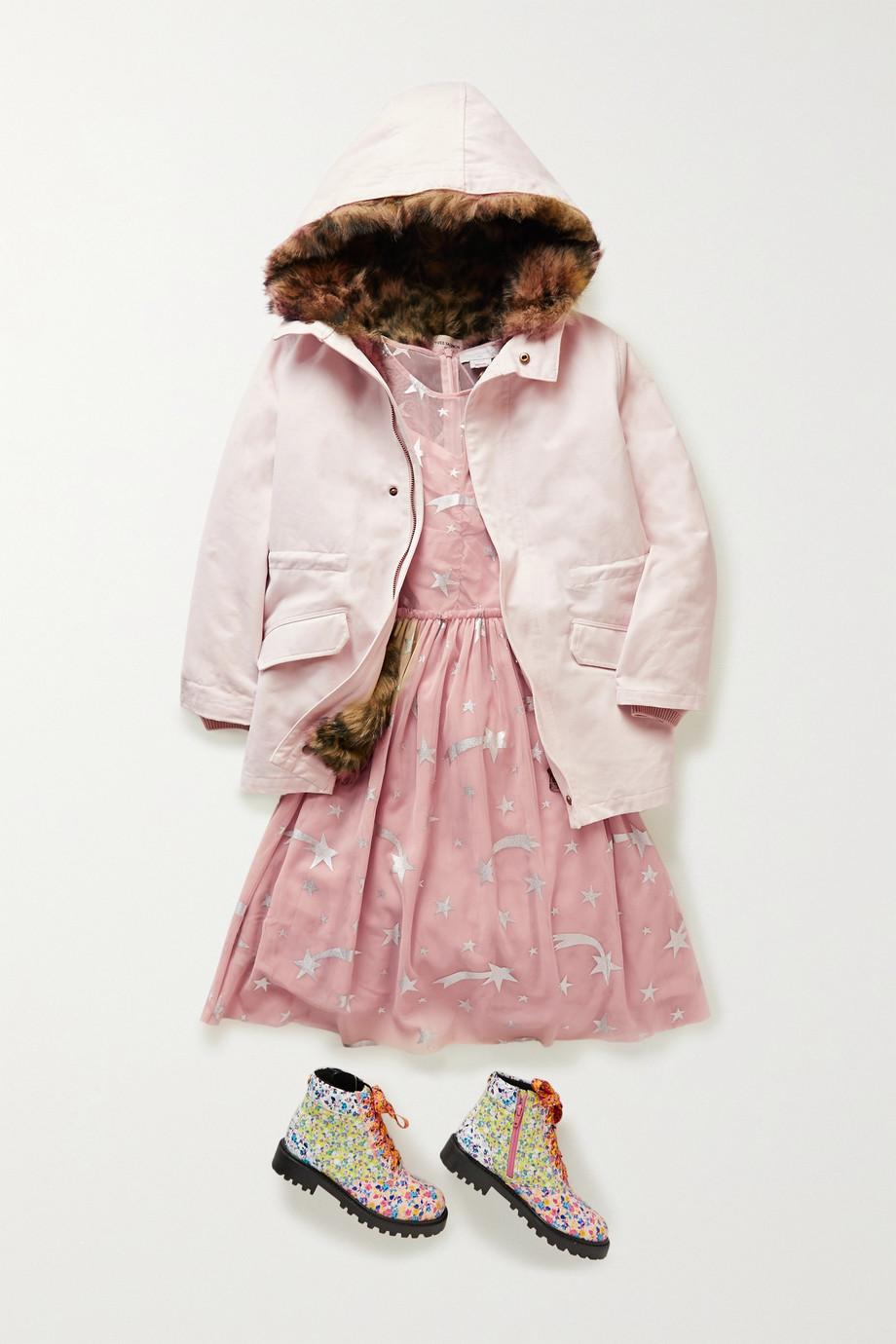 Yves Salomon Kids Convertible cotton-twill parka