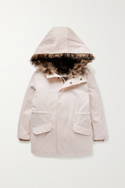 Yves Salomon Kids Ages 4 - 6 convertible cotton-twill parka