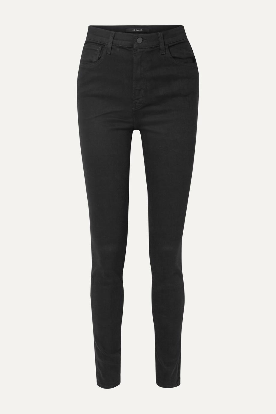 "J Brand Carolina 32"" hoch sitzende Skinny Jeans"