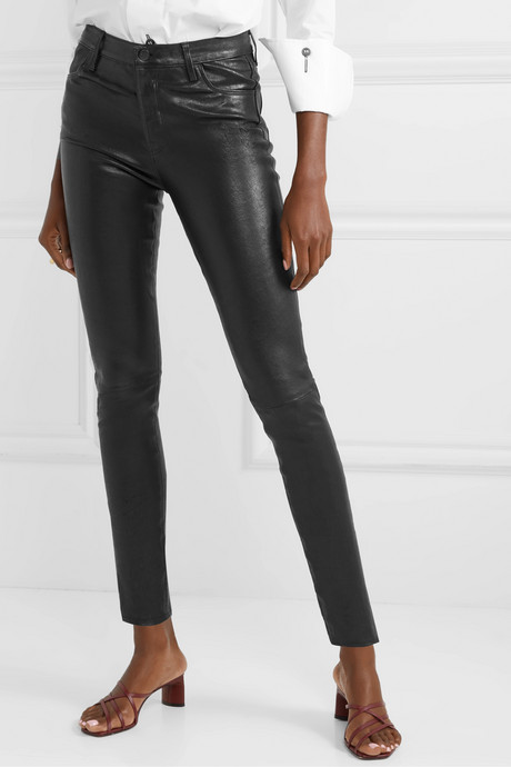 Maria leather skinny pants