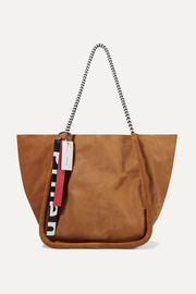Proenza Schouler Large leather-trimmed suede-corduroy tote