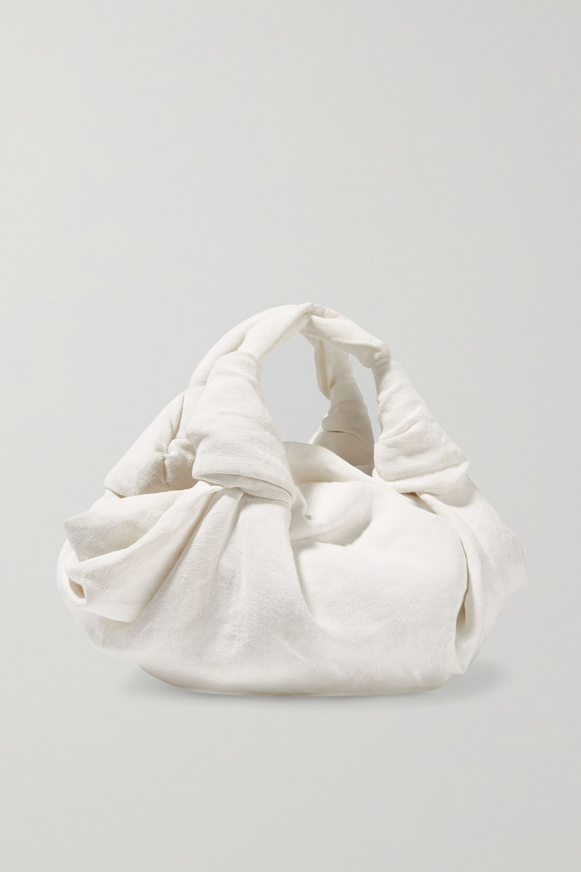 The Row Ascot linen tote