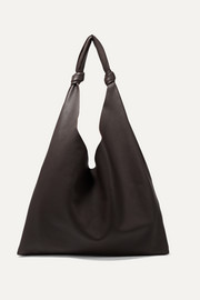 Bindle textured-leather shoulder bag