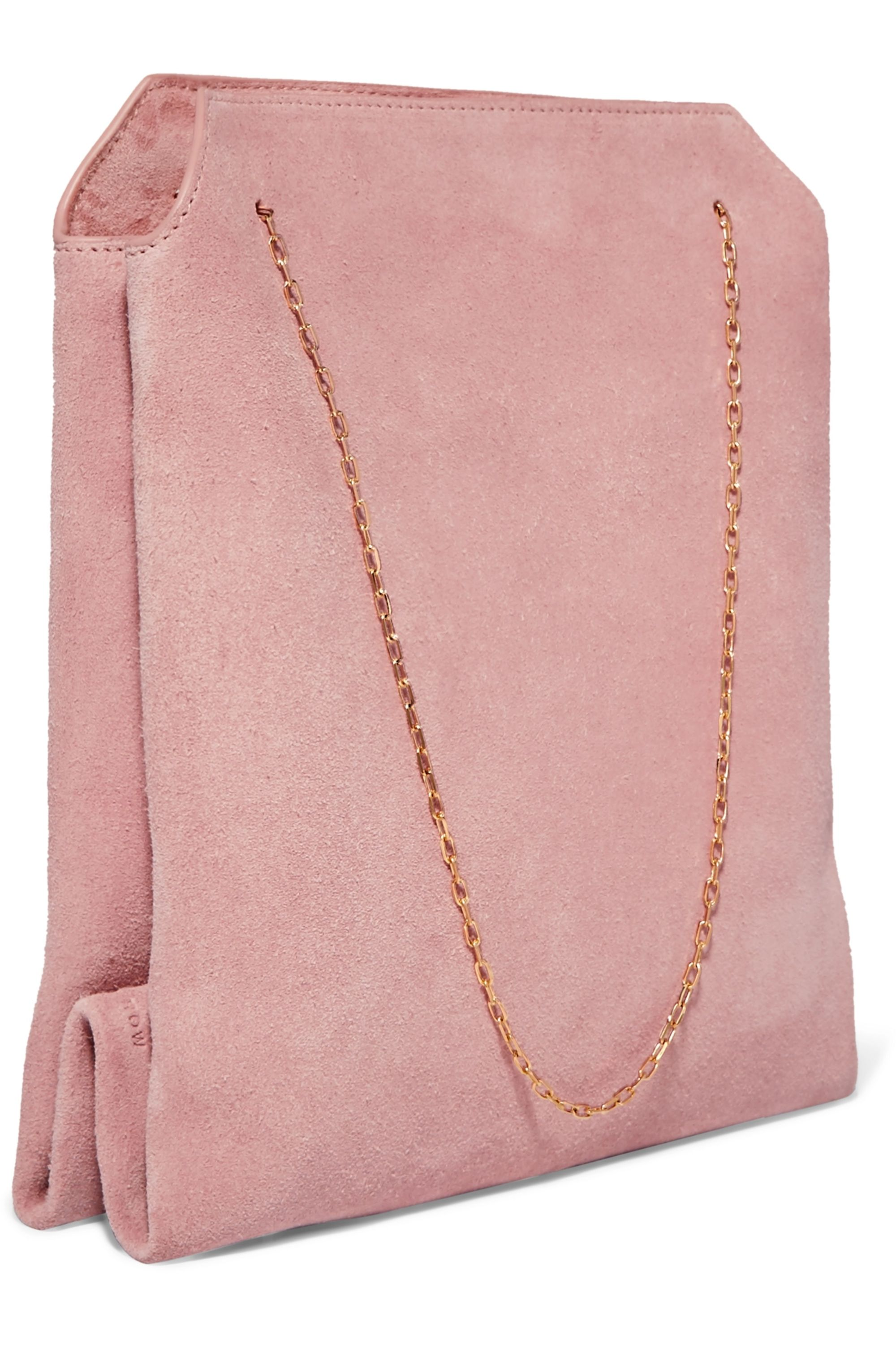 The Row Lunch Bag small suede tote