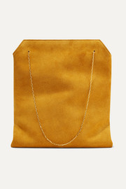 Lunch Bag small suede tote