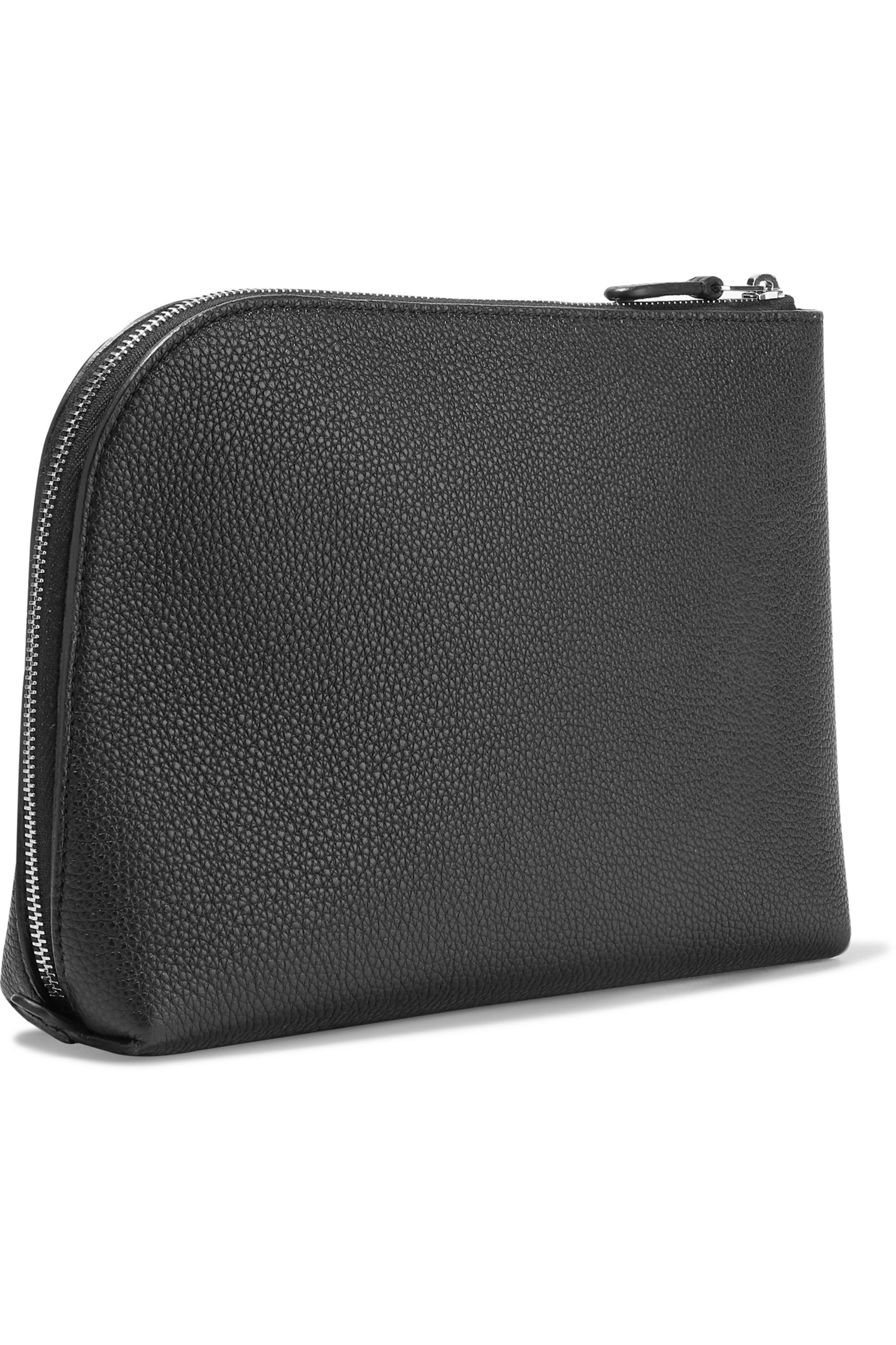 The Row Textured-leather pouch
