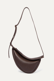 Slouchy Banana small textured-leather shoulder bag