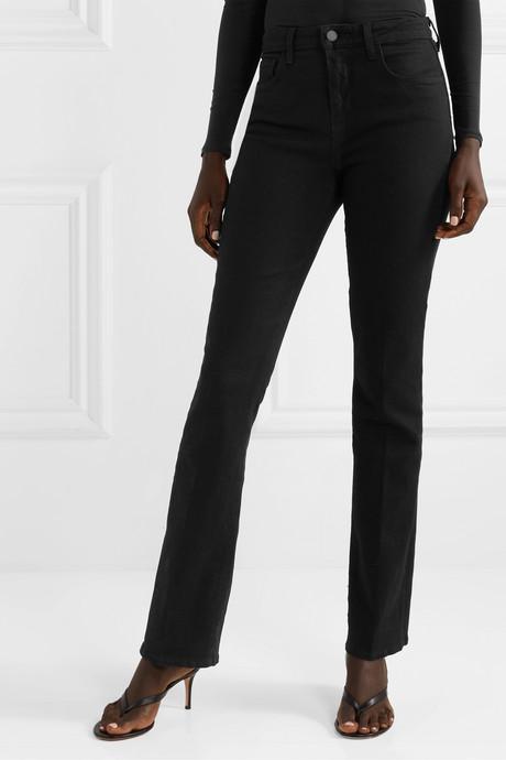 Oriana high-rise straight-leg jeans