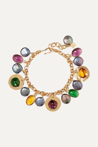 LOULOU DE LA FALAISE | Loulou De La Falaise - Gold-Plated, Glass And Pearl Bracelet - One Size | Goxip