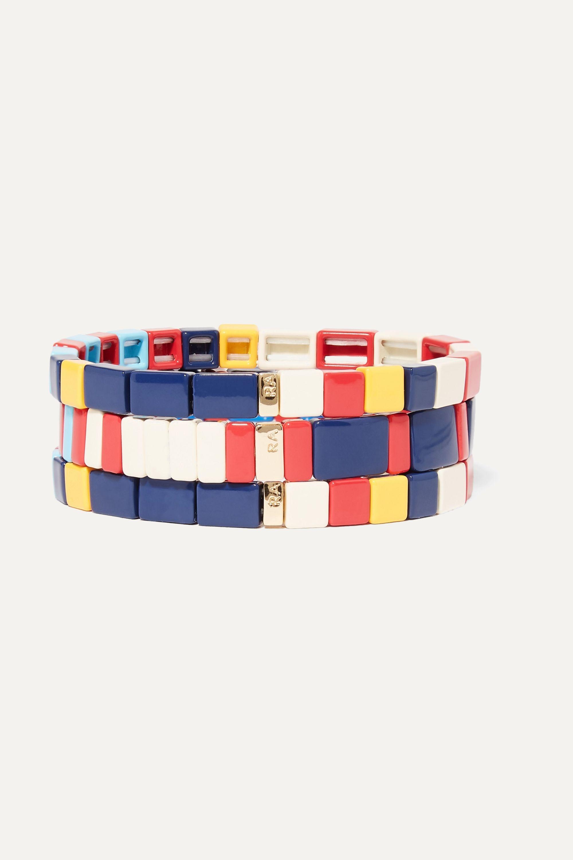 Roxanne Assoulin Regatta 搪瓷金色手链(三条装)