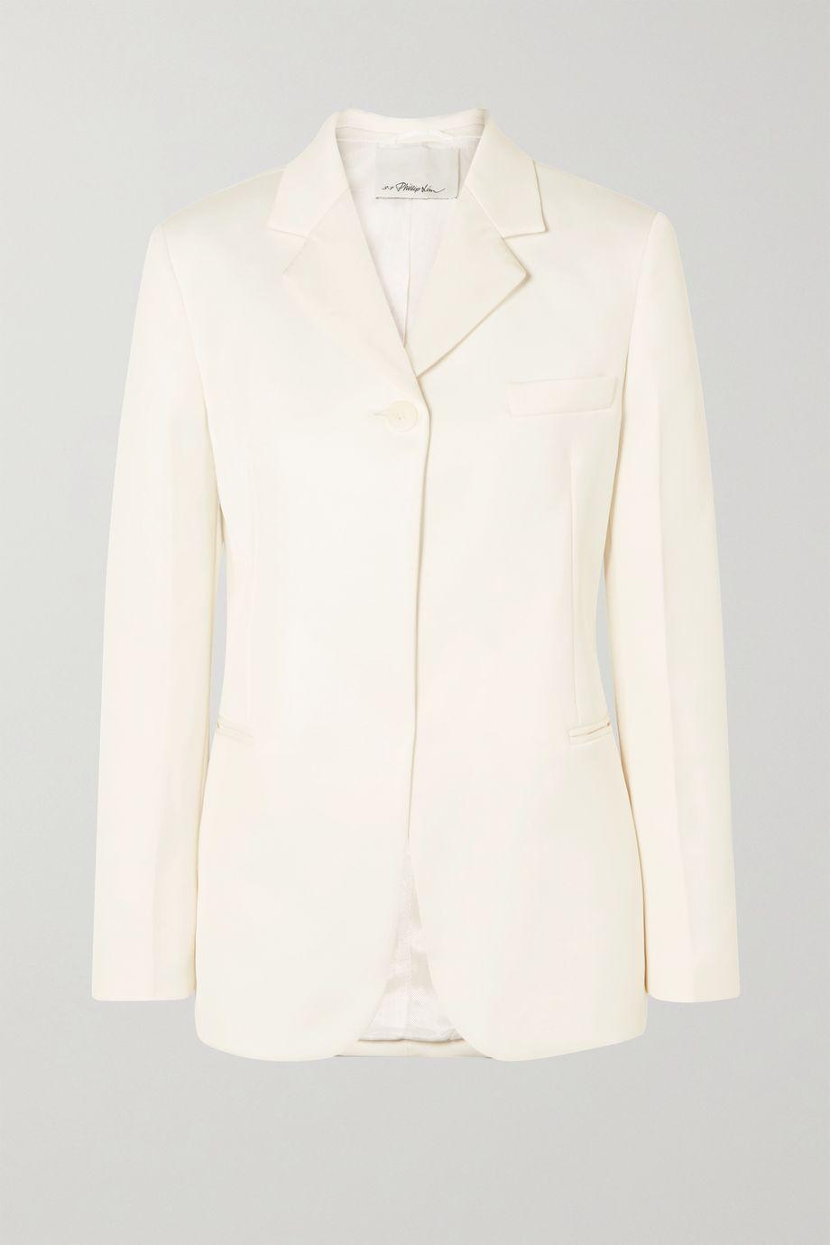 3.1 Phillip Lim Grosgrain-trimmed satin blazer