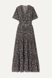 Stella McCartney Tiered printed cotton and silk-blend maxi dress