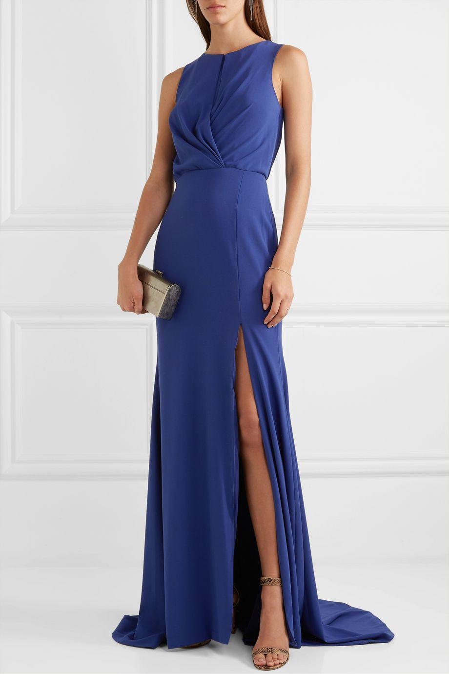 Burnett New York Twisted crepe gown