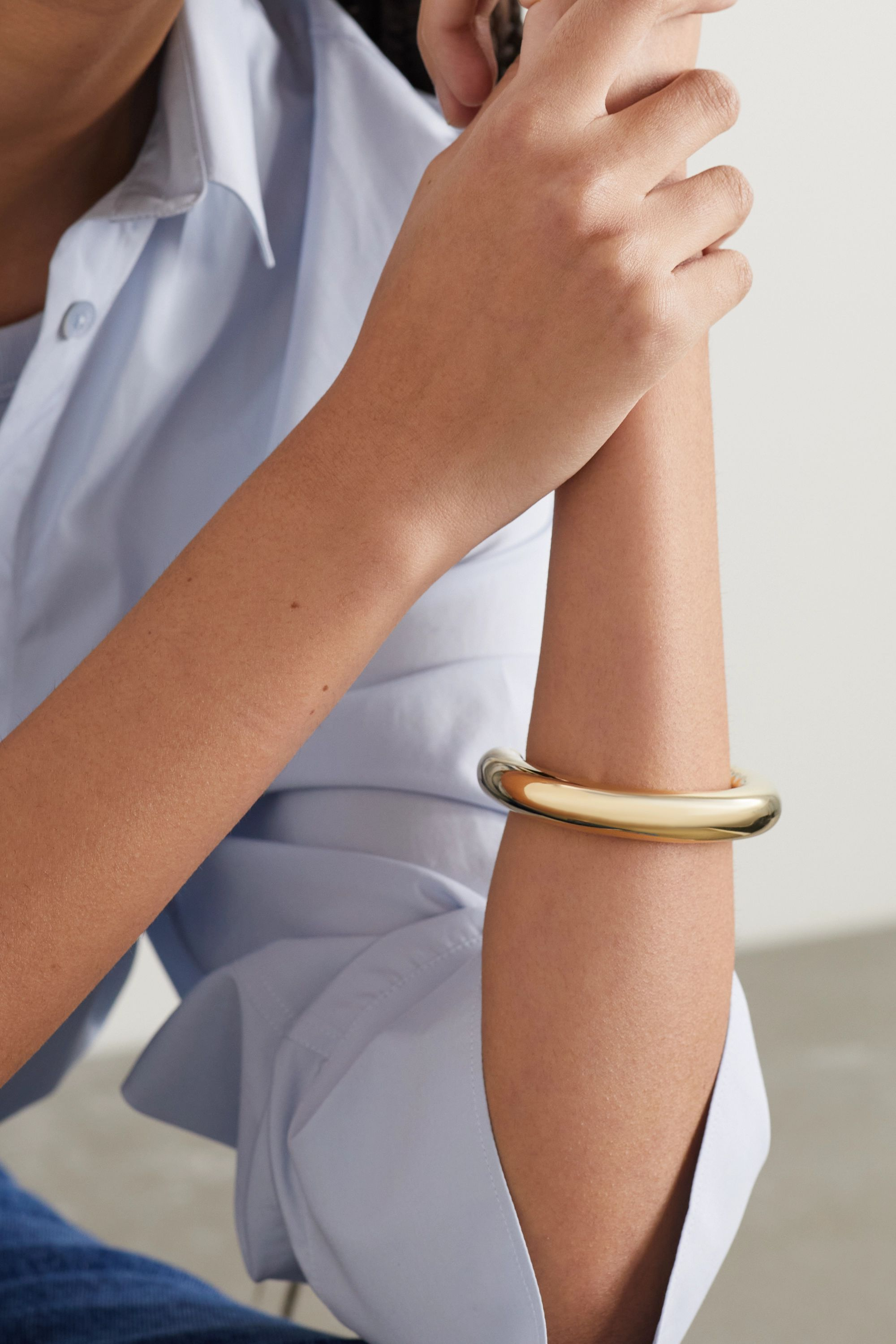 Jennifer Fisher Tube gold-plated cuff