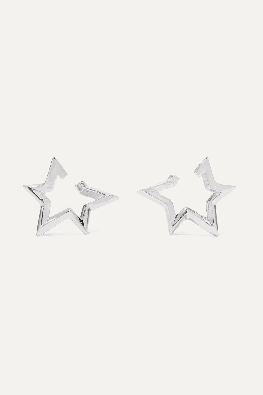 Jennifer Fisher Boucles d'oreilles en plaqué argent Classic Star Mini