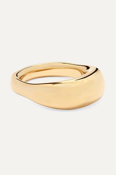 JENNIFER FISHER   Jennifer Fisher - Tube Gold-Plated Ring - 7   Goxip