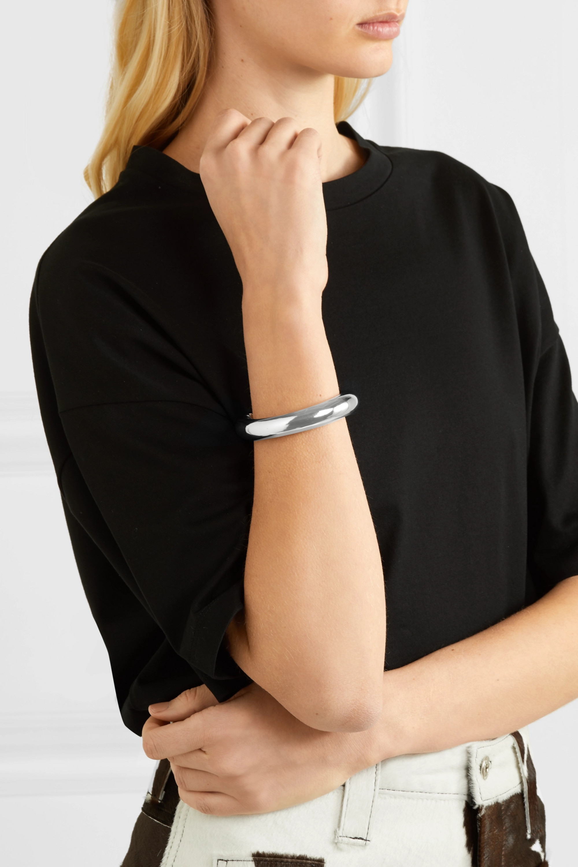 Jennifer Fisher Tube silver-plated cuff