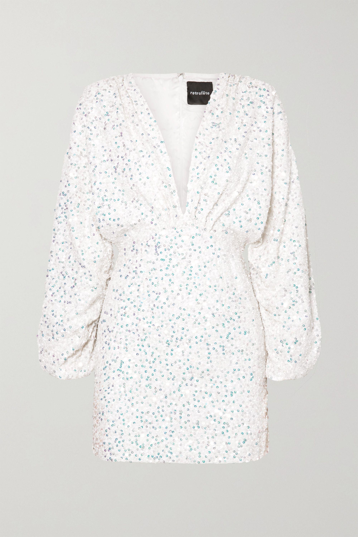 Retrofête Aubrielle sequined chiffon mini dress