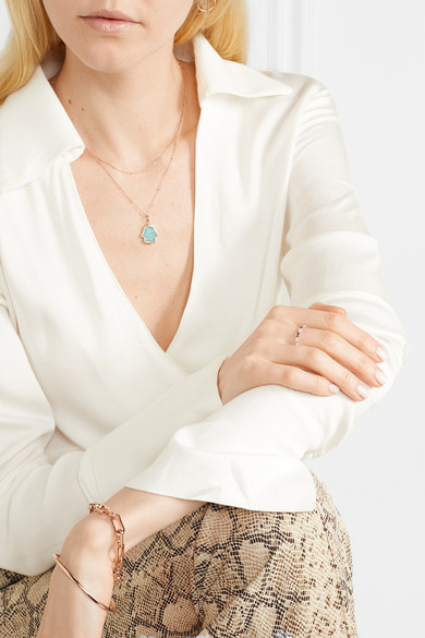 Nura Teardrop Rose Gold Vermeil Diamond Ring by Monica Vinader