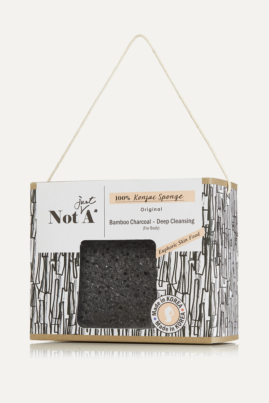 Not Just A* Konjac Body Sponge – Bamboo Charcoal – Körperschwamm