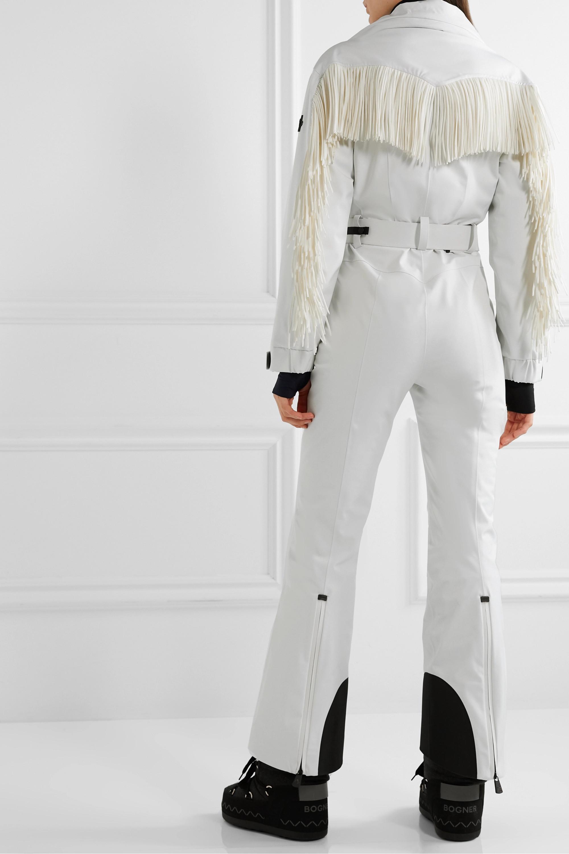 Moncler Genius + 3 Moncler Grenoble belted fringed ski suit