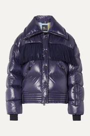 Moncler Genius + 3 Moncler Grenoble Pouri fringed quilted down ski jacket