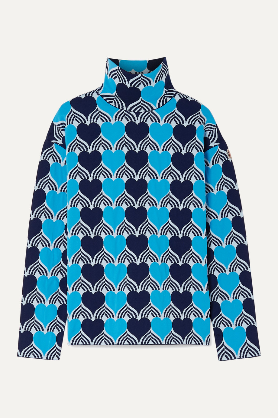 Moncler Genius + 3 Moncler Grenoble jacquard-knit turtleneck top