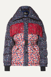 Moncler Genius + 3 Moncler Grenoble Orbeillaz fringed floral-print quilted down ski jacket