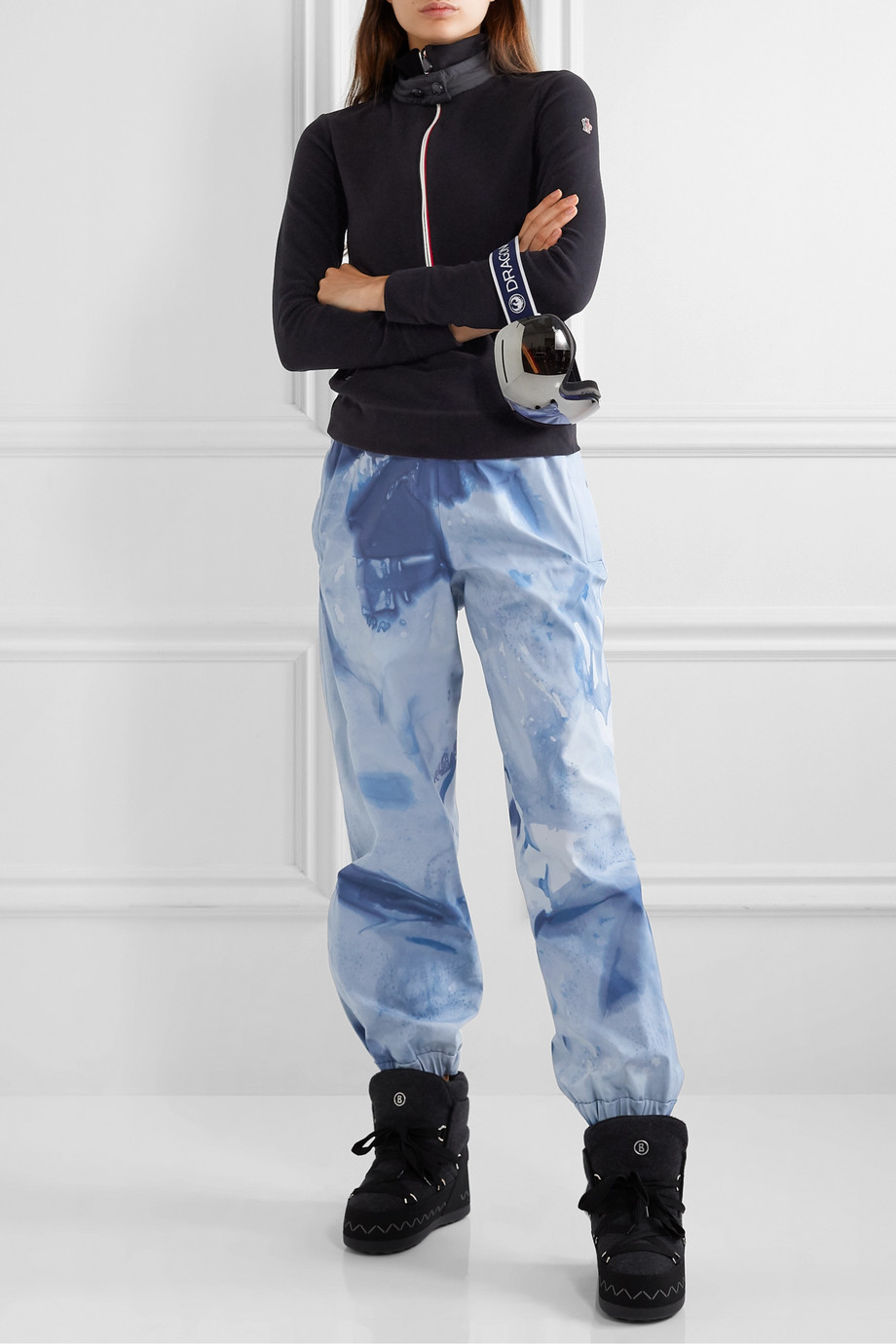 Moncler Genius + 3 Moncler Grenoble tie-dyed tapered ski pants