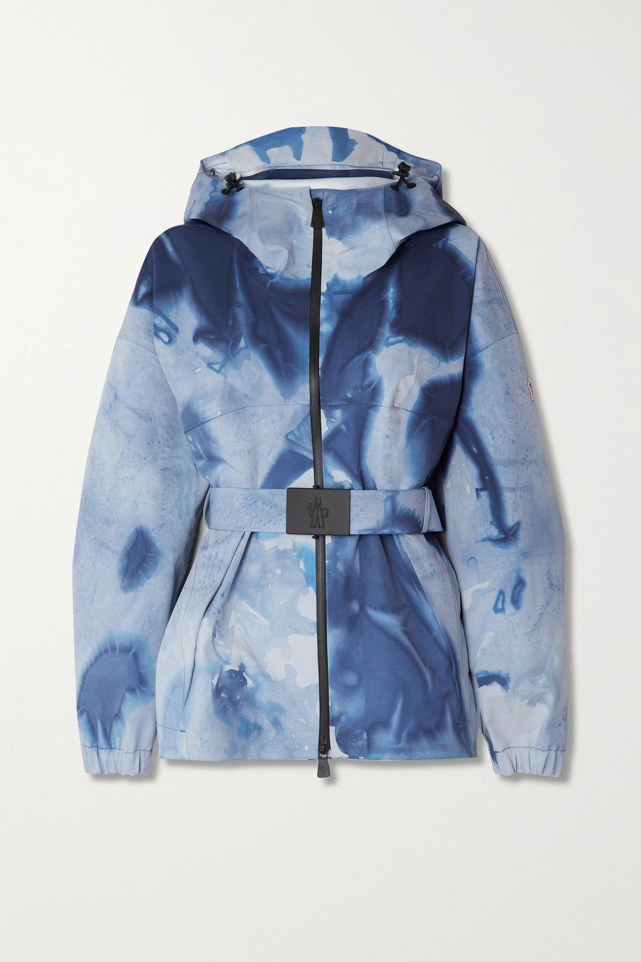 Moncler Genius Hooded belted tie-dyed ski jacket