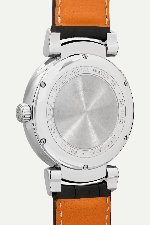 IWC SCHAFFHAUSEN Da Vinci Automatic Moon Phase 40 毫米精钢腕表(短吻鳄鱼皮表带)