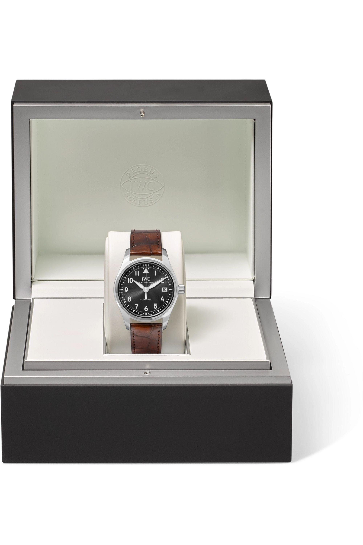 IWC SCHAFFHAUSEN Pilot's Automatic 36mm stainless steel and alligator watch
