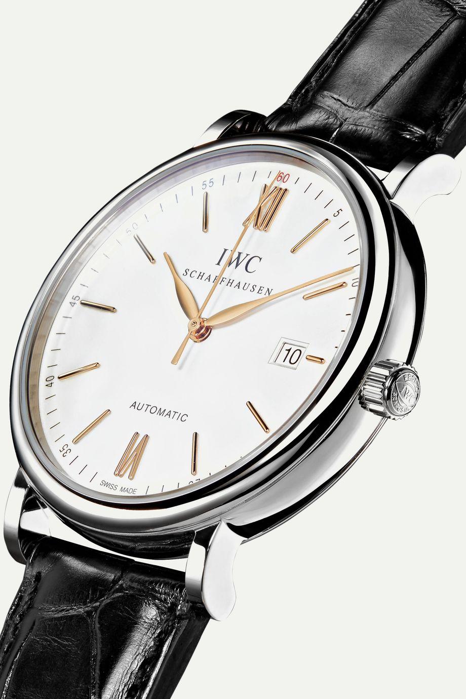 IWC SCHAFFHAUSEN Portofino Automatic 40mm stainless steel and alligator watch