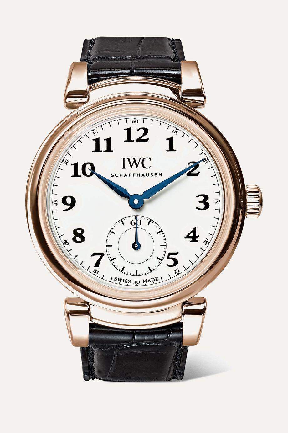 IWC SCHAFFHAUSEN Da Vinci Automatic 40mm 18-karat red gold and alligator watch
