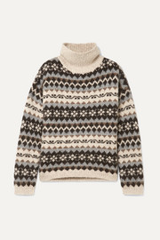 Catalina Fair Isle alpaca-blend turtleneck sweater