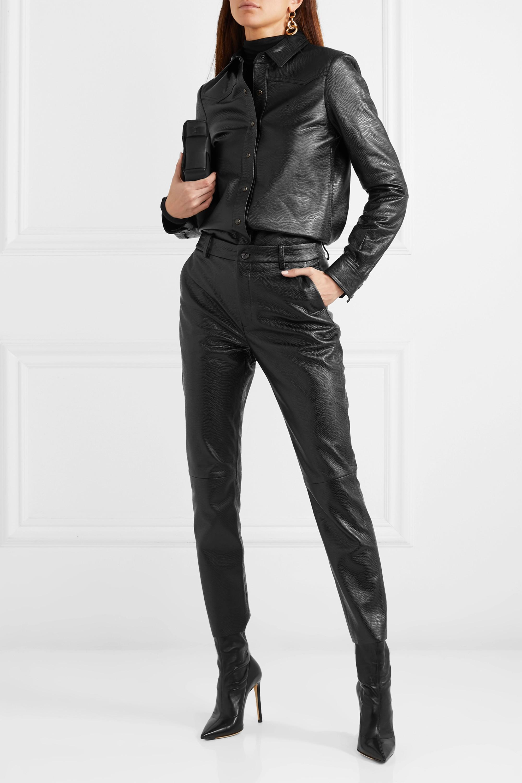 Nili Lotan Juline leather shirt