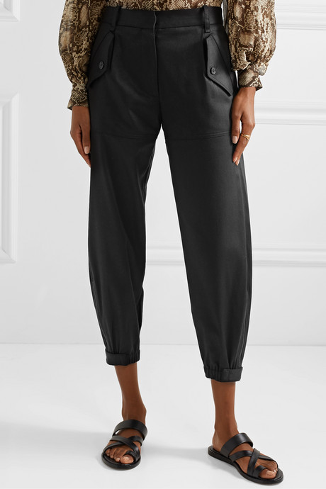 Arliss cropped Lyocell-blend twill tapered pants