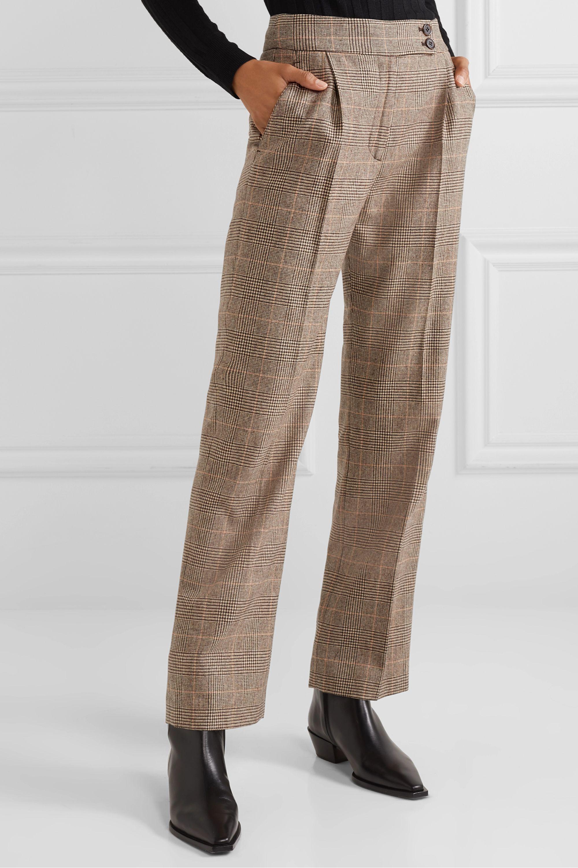 Nili Lotan Charlotte Hose mit geradem Bein aus einer Wollmischung mit Glencheck-Muster