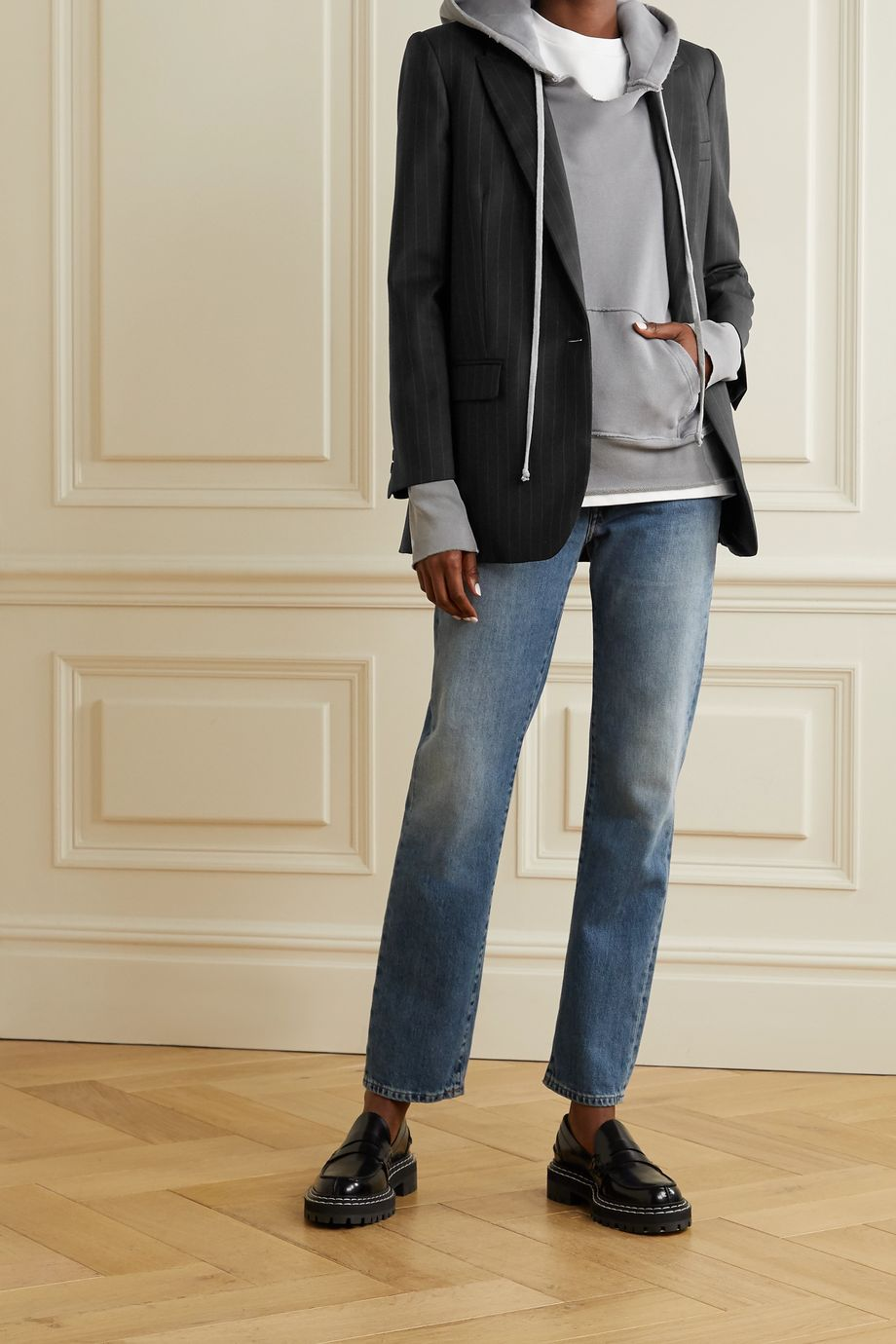 Nili Lotan Diane pinstriped wool-blend twill blazer