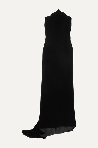Oscar De La Renta Dresses Strapless velvet gown