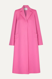 Oversized wool and cashmere-blend felt coat