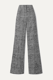 Carolina Herrera Prince of Wales checked wool and silk-blend wide-leg pants
