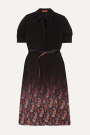 Altuzarra Kieran belted printed silk crepe de chine dress