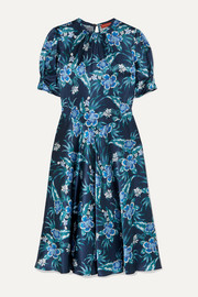 Altuzarra Adeline floral-print stretch-silk satin midi dress