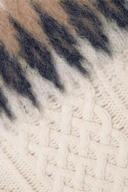 Altuzarra Parvati Fair Isle and cable-knit wool-blend sweater