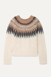 Parvati Fair Isle and cable-knit wool-blend sweater