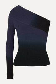 Altuzarra Padma one-sleeve dégradé ribbed-knit top