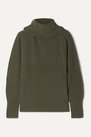 Altuzarra Shakti braid-trimmed ribbed cashmere turtleneck sweater