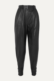 Altuzarra Atomica pleated leather tapered pants