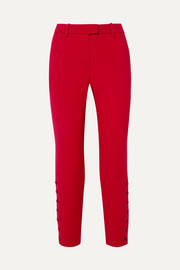 Altuzarra Tobyn button-detailed cady slim-leg pants